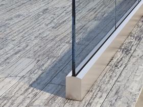 Staklene ograde Elegant - nasadni sistem AS50