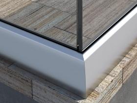 Staklene ograde Elegant - nasadni sistem C70