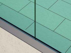 Staklene ograde Elegant - nasadni sistem NX50