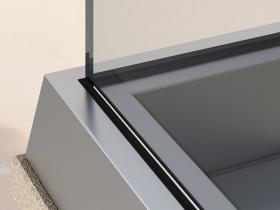 Staklene ograde Elegant - nasadni sistem RS50