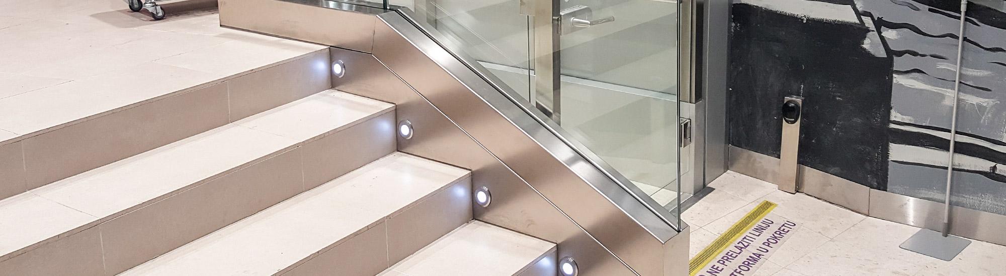 Staklene ograde Elegant - nasadni sistem C50 - Idea London Beograd