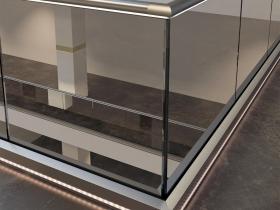 Staklene ograde Elegant - nasadni sistem C50 LED