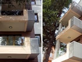 Staklene ograde Elegant - nasadni sistem C50 - Porodična zgrada u Beogradu