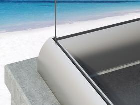 Staklene ograde Elegant - nasadni sistem CL50
