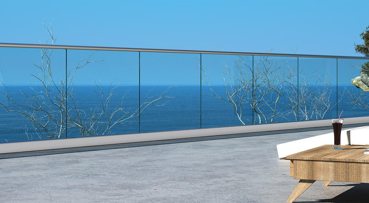 Staklene ograde Elegant - nasadni sistem R50