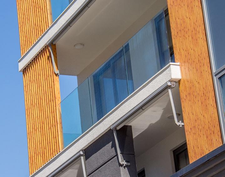Staklene ograde Elegant - stranični sistem D50 - West65 Beograd