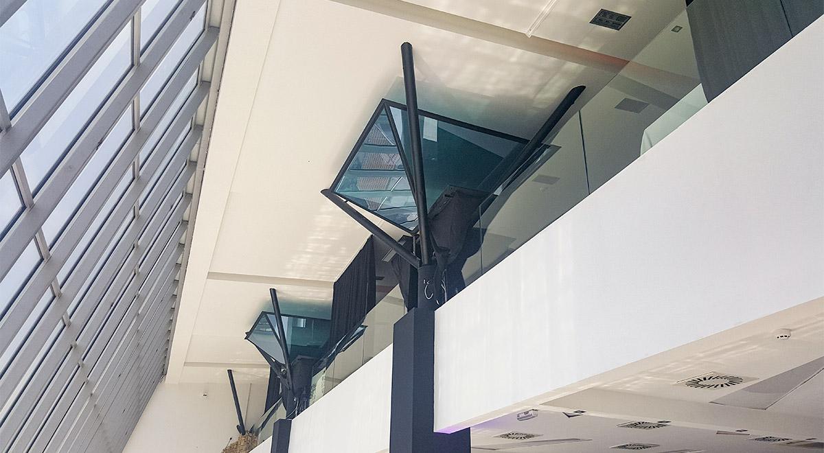 Staklene ograde Elegant - nasadni sistem C50 - restoran Stadion Beograd