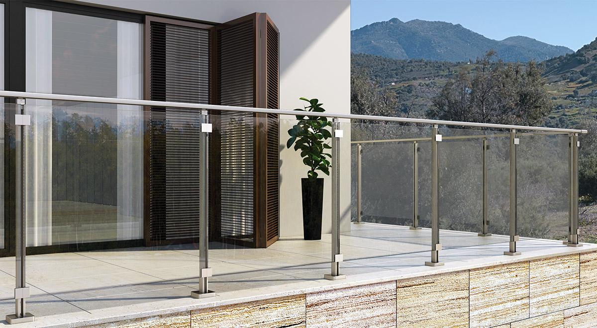 Aluminijumska staklena ograda Elegant LX15
