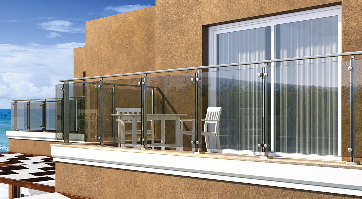 Aluminijumska staklena ograda Elegant LX16