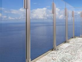 Aluminijumska staklena ograda Elegant LX17
