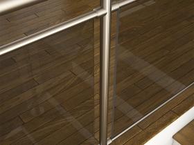 Aluminijumska staklena ograda Elegant RL14