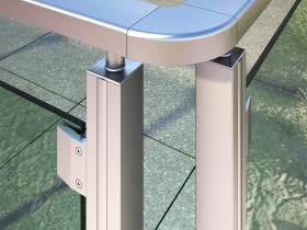 Aluminijumska staklena ograda Elegant SL12