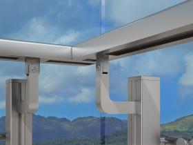 Aluminijumska staklena ograda Elegant SL13