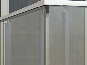 Aluminijumska staklena ograda Elegant SL14