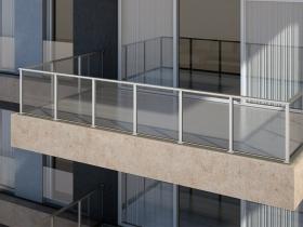 Aluminijumska staklena ograda Elegant SL18