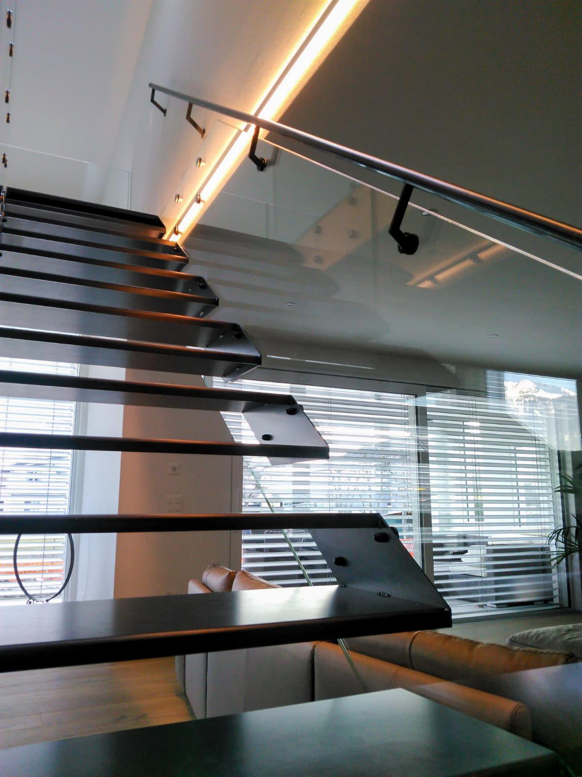 Inox tačkasti nosačI GT50 - lebdeće stepenice
