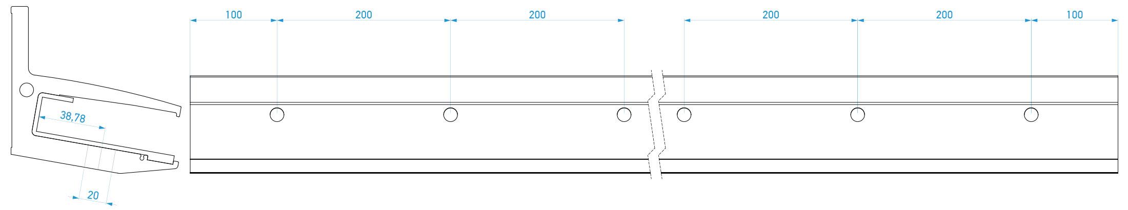 Priprema stakla za ugradnju staklene nadstrešnice N100