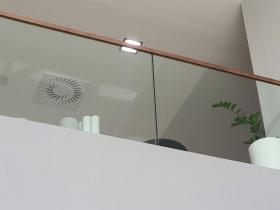 Staklene ograde Elegant - nasadni sistem N50 - Hotel Holiday Inn Beograd