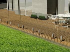 Staklene ograde Elegant - nasadni sistem Vista 320